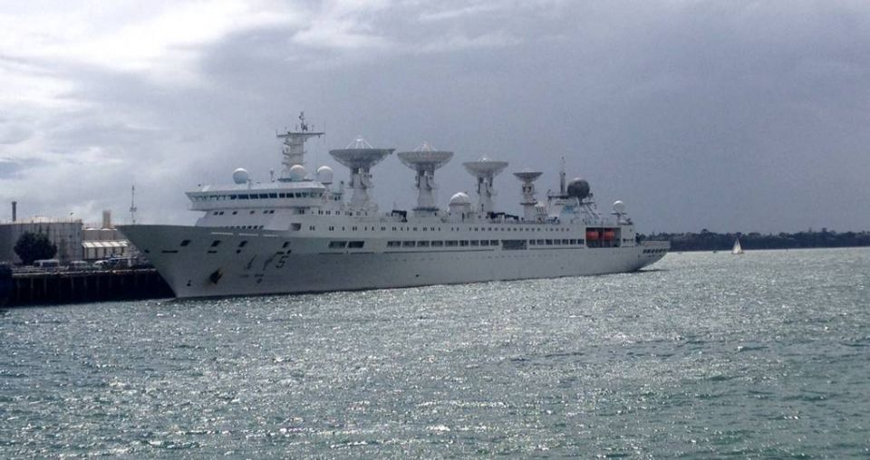 Chinese space-tracking vessel heads out for the Pacific