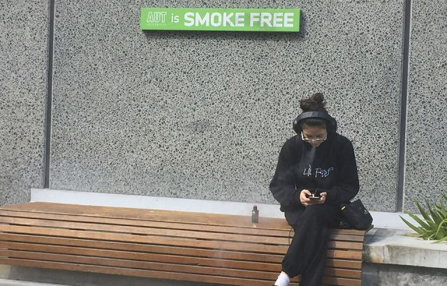 AUT's smokers find refuge in the grey areas