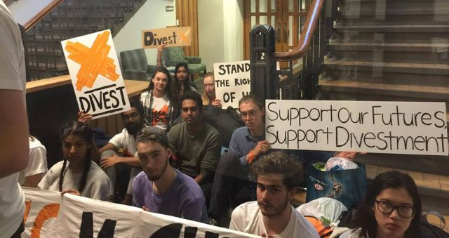 Students slam Vice Chancellor: 'Stop funding climate change'